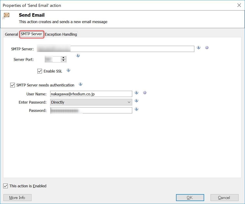 Send Email SMTP Server
