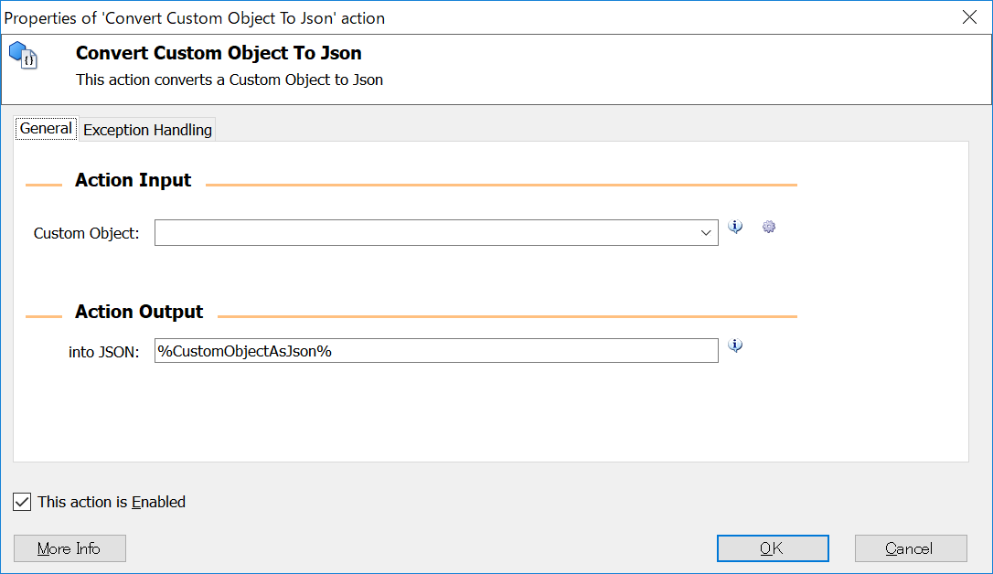 Convert Custom Object To Json