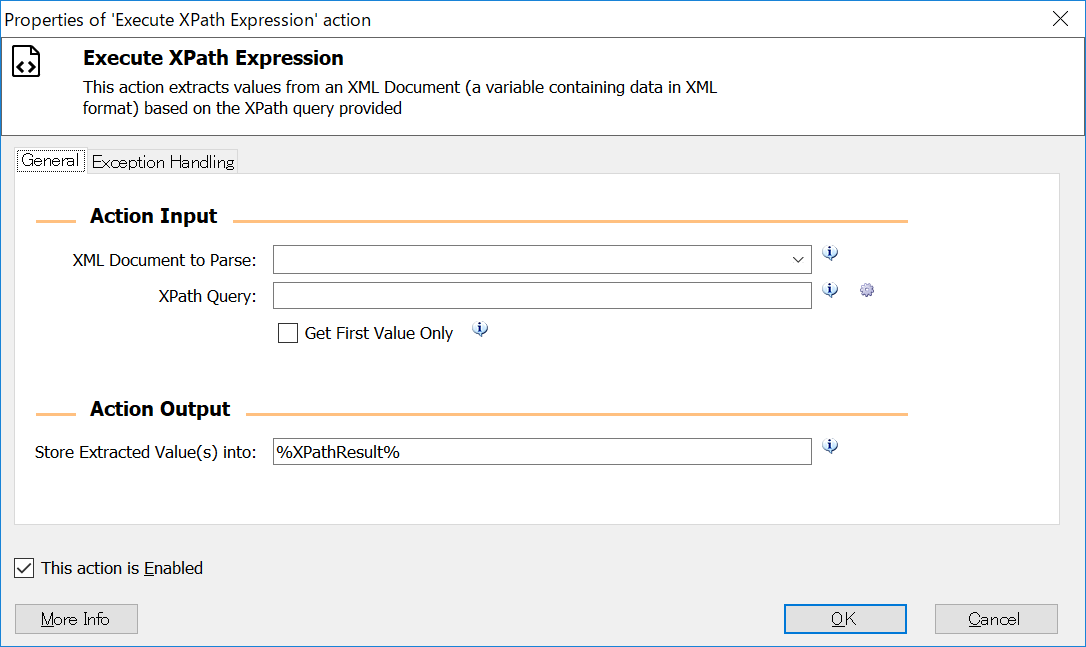 Execute XPath Expression